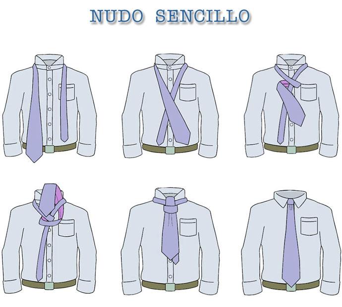 nudo de corbata facil paso a paso