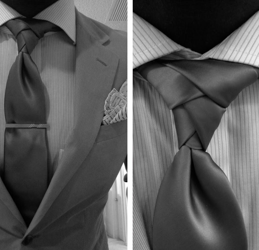 como hacer nudo de corbata moderno