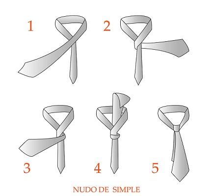 nudo de corbata simple imagenes